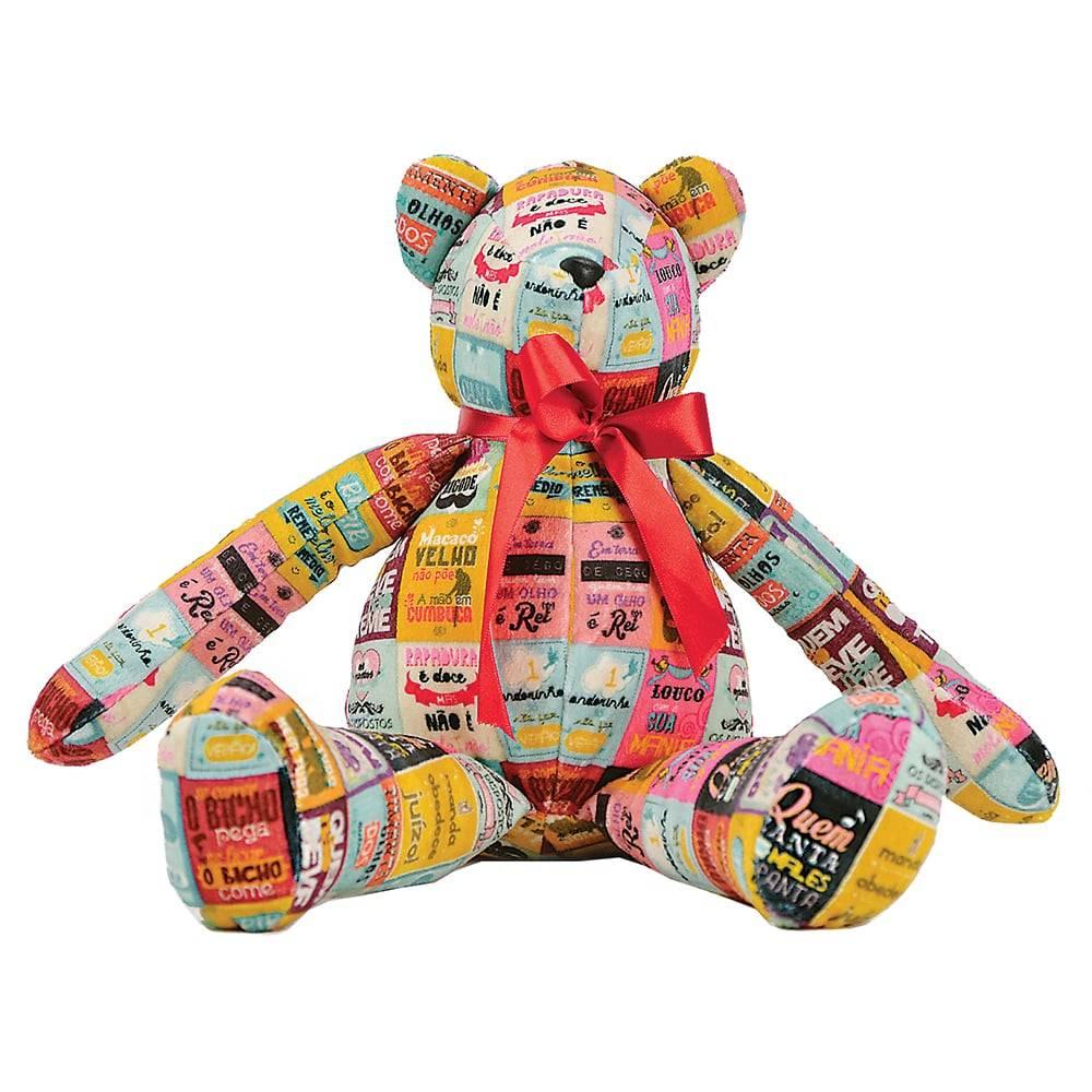 Urso Como Dizia Minha Avó - Carpe Diem - Antialérgico em Plush - 36x17 cm