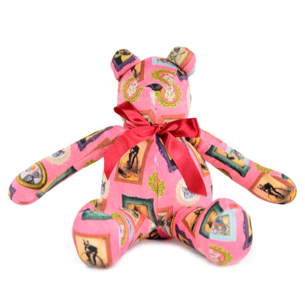 Urso Gatos de Família - Carpe Diem - Rosa Antialérgico em Plush - 36x17 cm