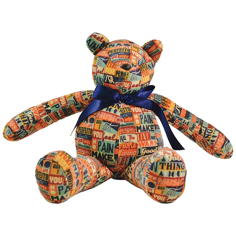 Urso Make Love - Carpe Diem - Colorido Antialérgico em Plush - 36x17 cm