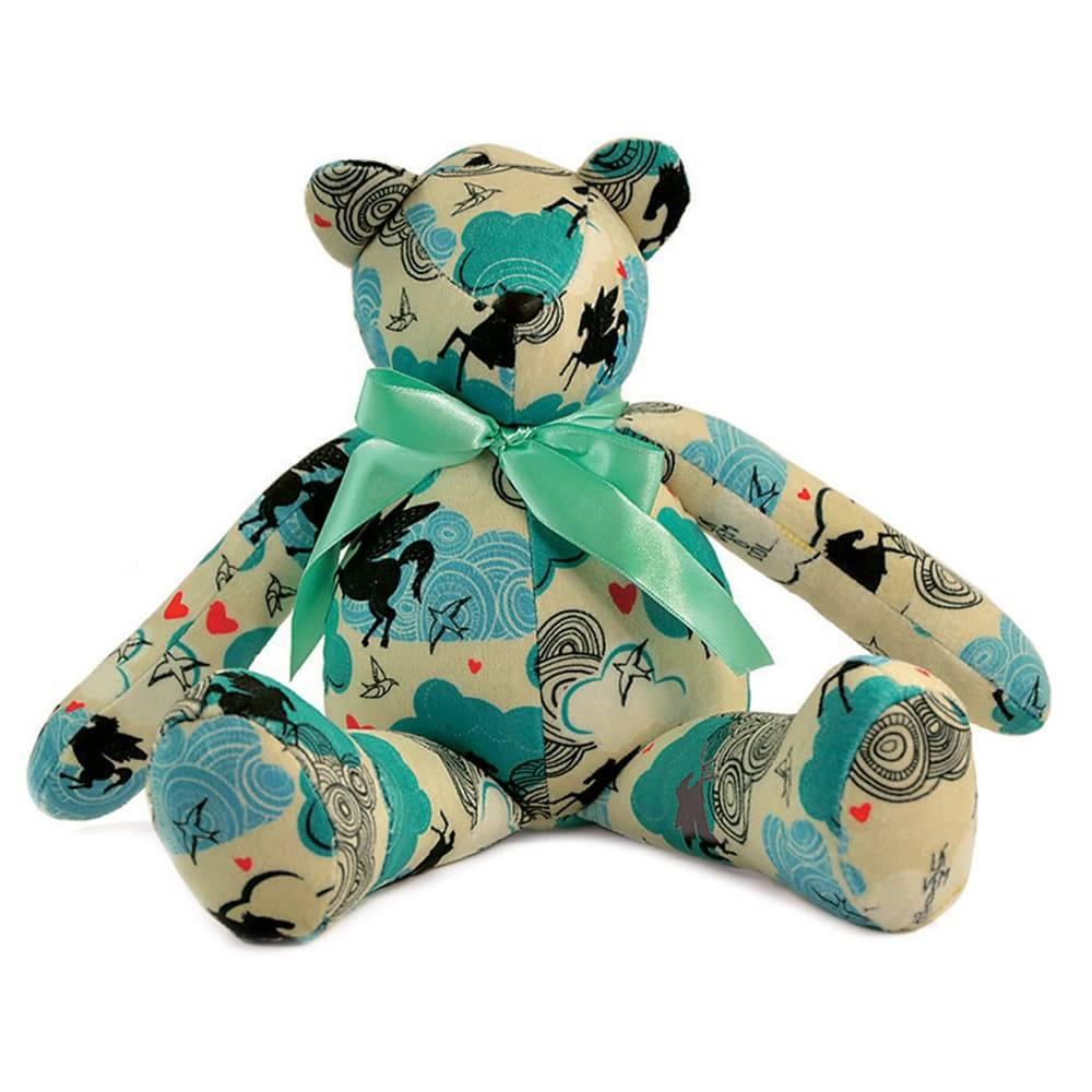 Urso Sonho - Carpe Diem - Bege Antialérgico em Plush - 36x17 cm