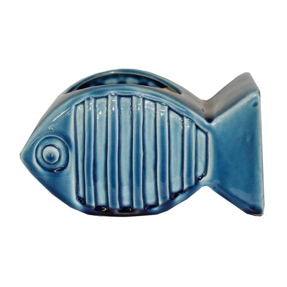 Vasinho Peixe Cerâmica P