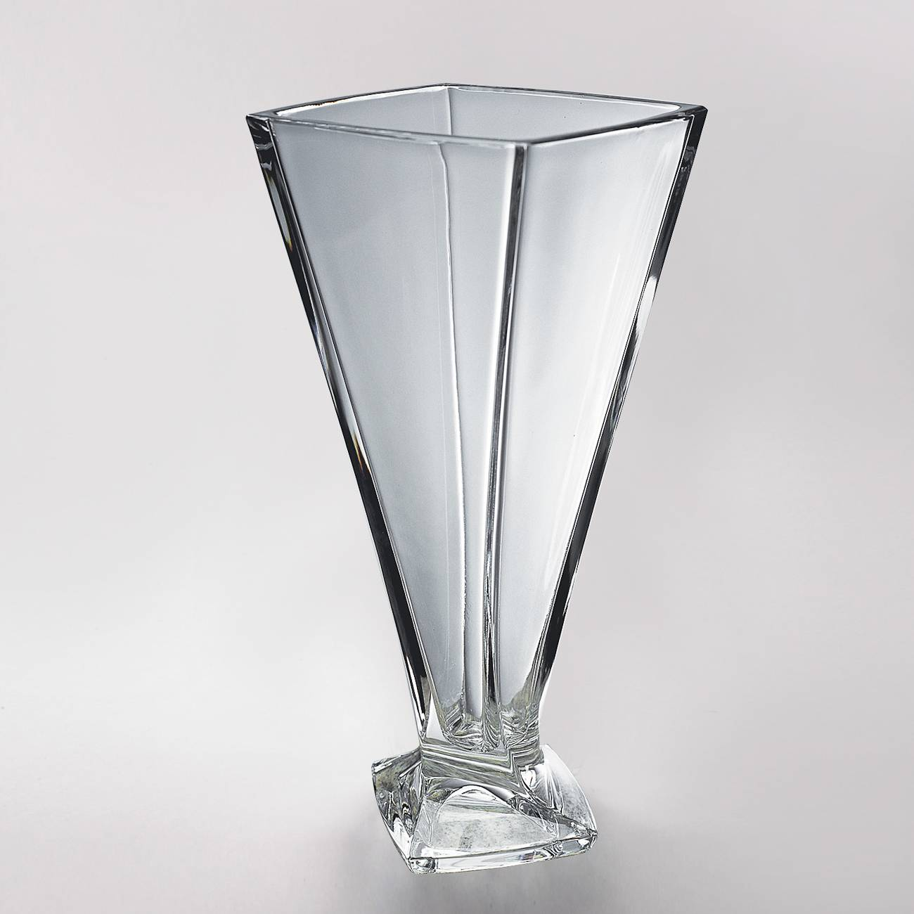 Vaso Quadro em Cristal - Bohemia Crystalite - 28 cm