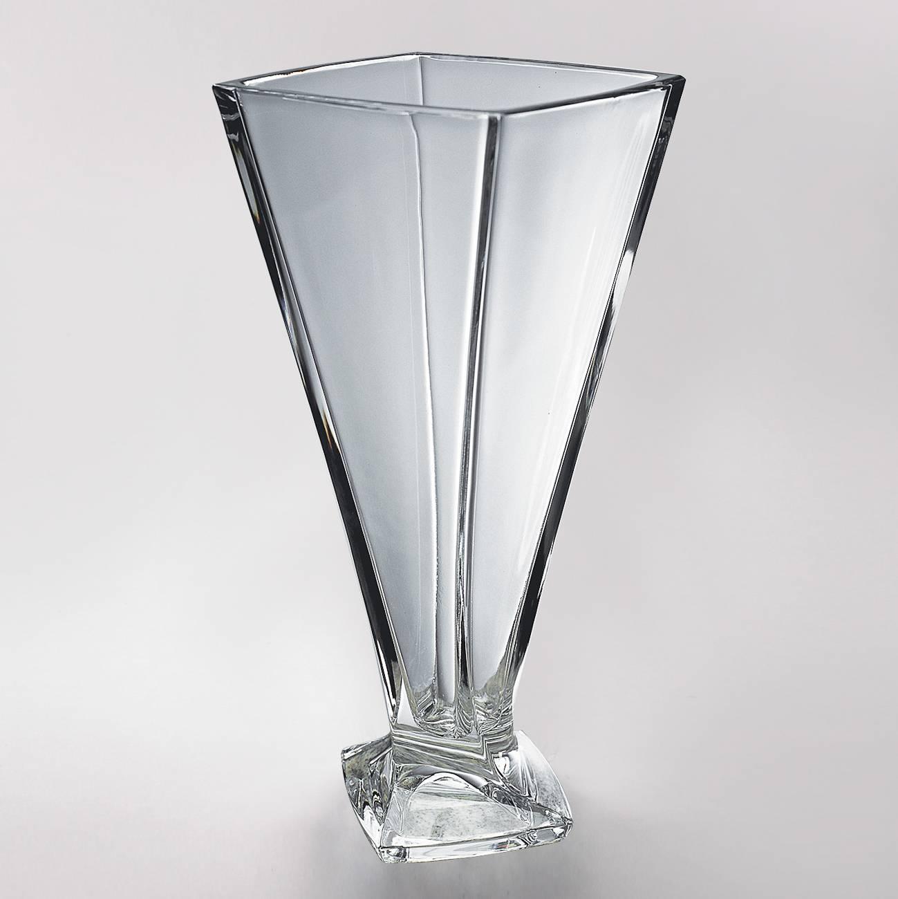 Vaso Quadro em Cristal - Bohemia Crystaline - 33 cm