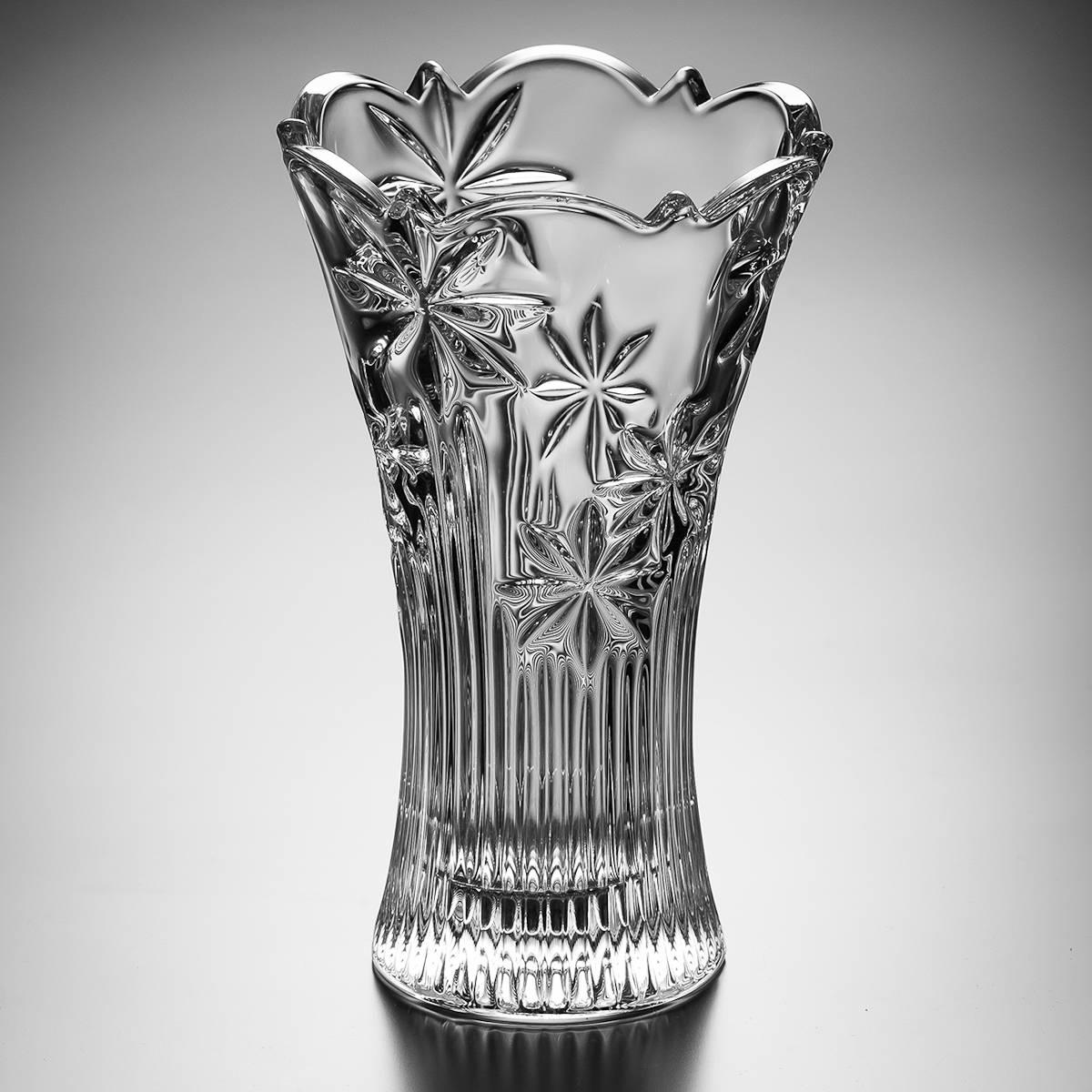 Vaso Acinturado Perseus em Cristal - Bohemia Crystalite - 30 cm