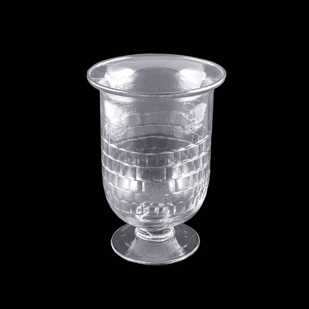 Vaso Agra Transparente Pequeno em Vidro - 16x12 cm