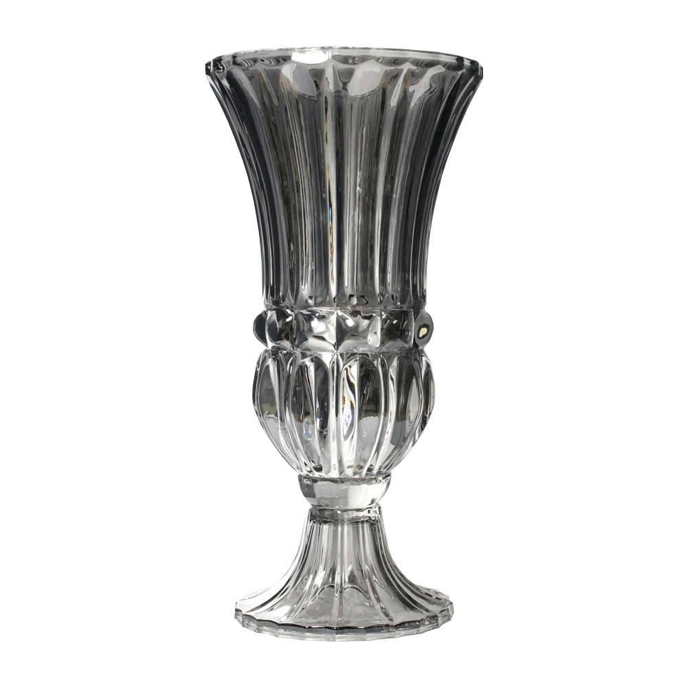Vaso Aland Cromado em Vidro - 40x20 cm