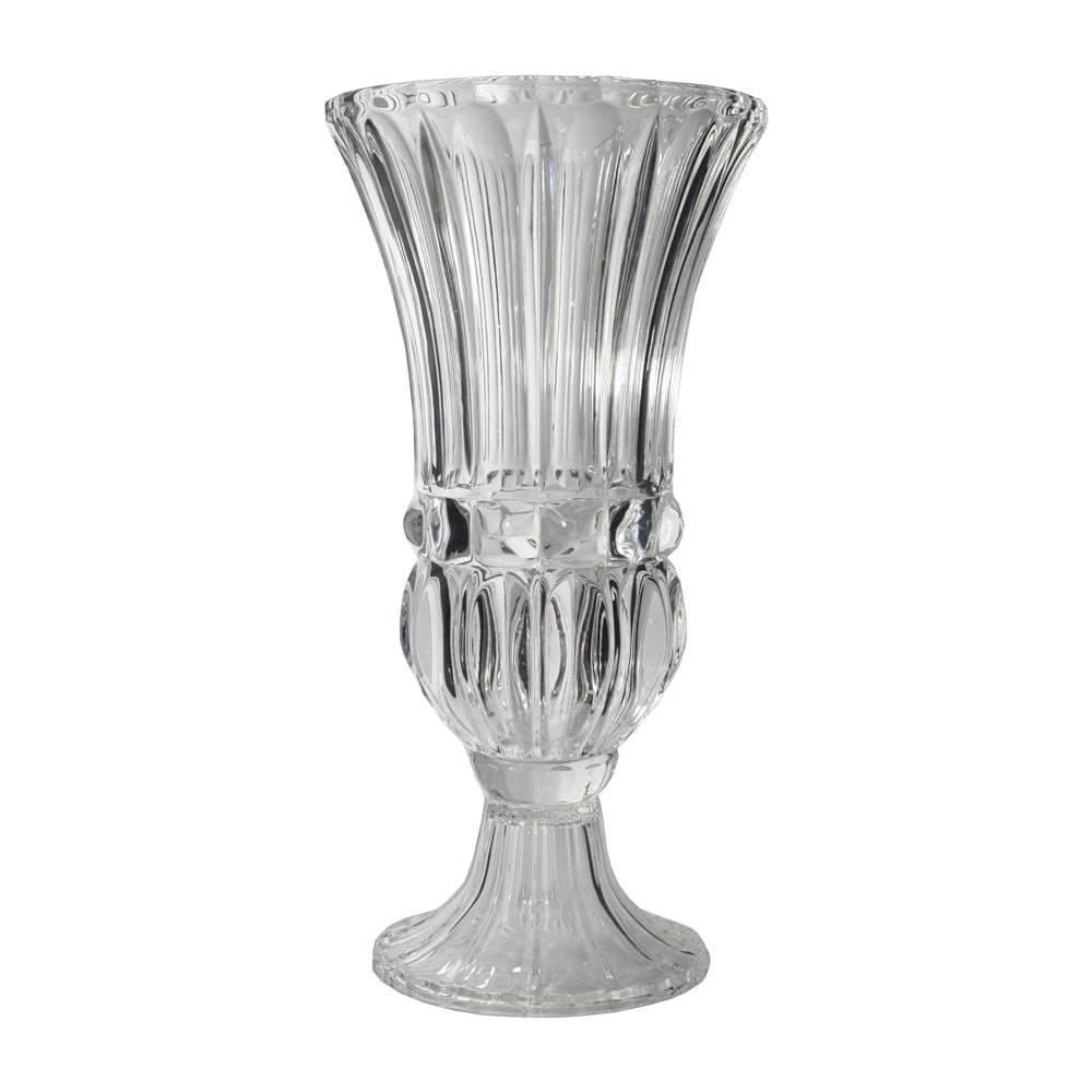 Vaso Aland Transparente em Vidro - 40x20 cm