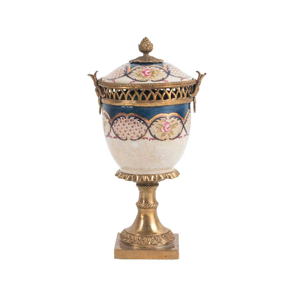 Vaso Alteza Florida em Porcelana - 35x20 cm