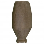 Vaso Alto Redondo Beton Marrom em Metal - 58x22 cm