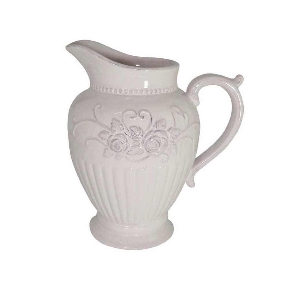 Vaso Atenas Branco em Cerâmica - 22x19,5 cm