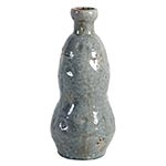 Vaso Azul London Ondulado em Cerâmica - 38x17 cm
