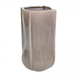 Vaso Bag Cinza em Cerâmica - 30x17 cm