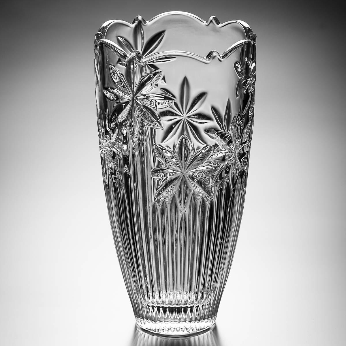 Vaso Bojudo Perseus em Cristal - Bohemia Crystalite - 30 cm