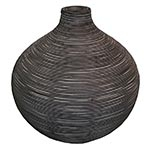Vaso Bojudo em Rattan Médio Greenway - 37x35 cm