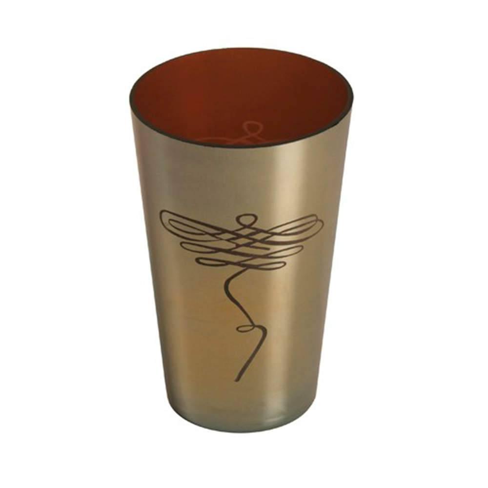 Vaso Borboleta Cromo Médio em Metal - 18x12 cm