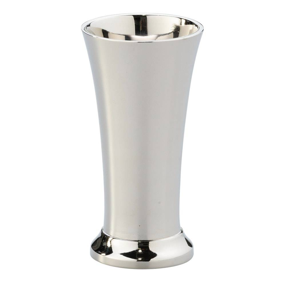 Vaso Brilhante em Ferro Niquelado - Lyor Classic - 14x7 cm