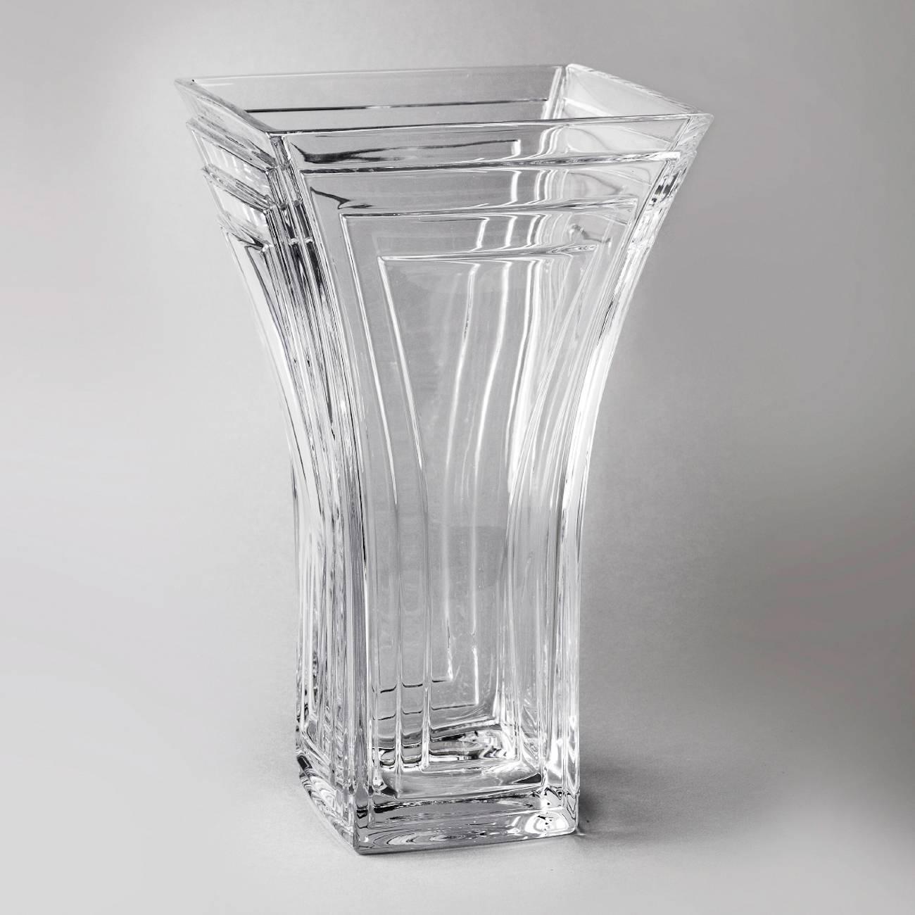 Vaso Cascade em Cristal - Bohemia Crystalite - 25,5 cm