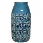 Vaso Cerâmica Azul P