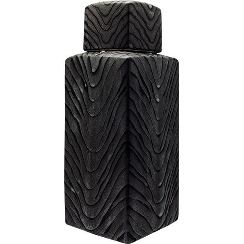 Vaso de Cêramica Cinza Médio - 36x13x13 cm