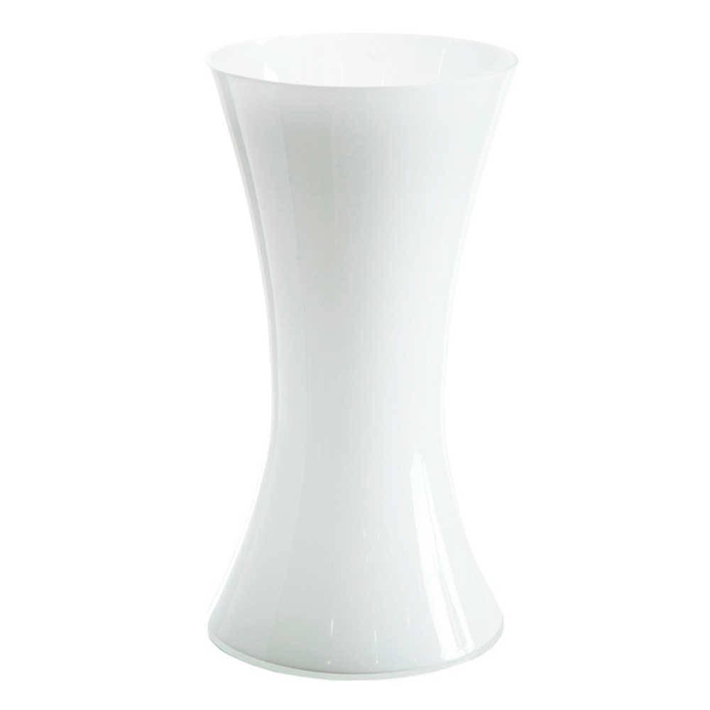 Vaso Chic Contour Branco em Vidro - Urban - 30x16 cm