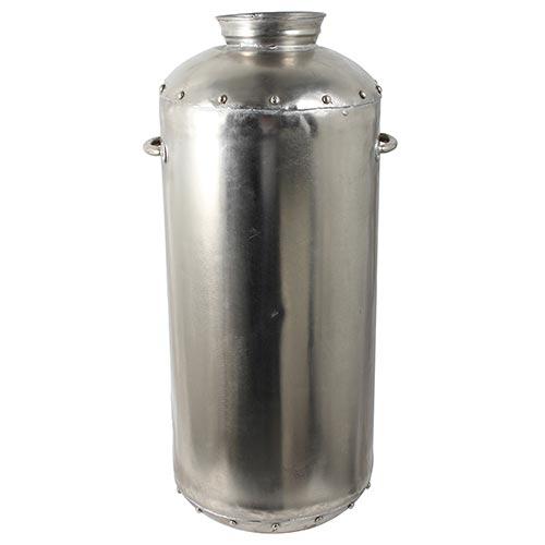 Vaso Cilindrico Niquelado Grande c/ Alça Fullway - 78x38 cm
