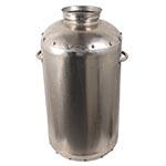 Vaso Cilindrico Niquelado Médio c/ Alça Fullway - 64x36 cm