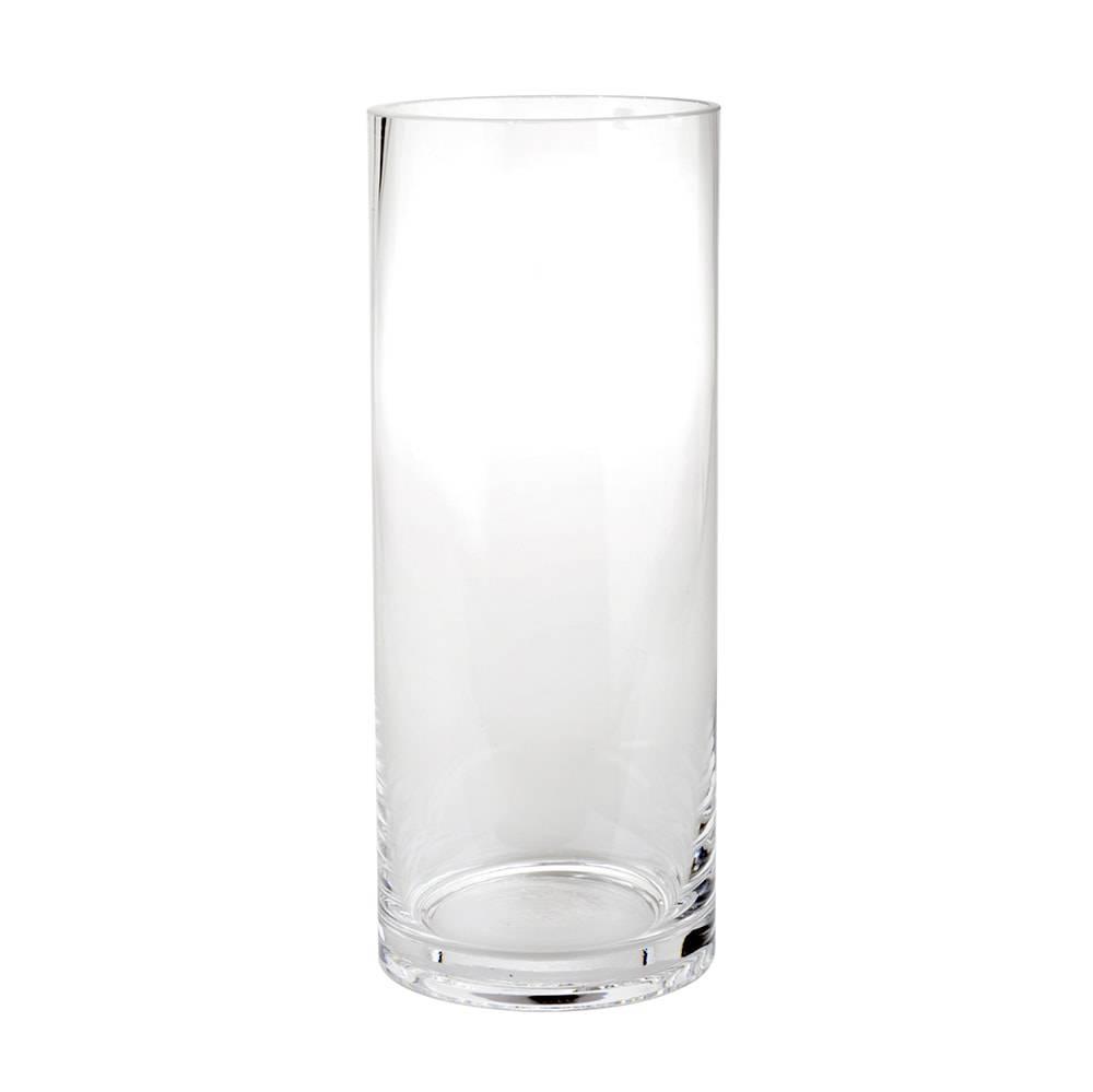 Vaso Cilíndrico Venue Transparente em Vidro - 20x15 cm