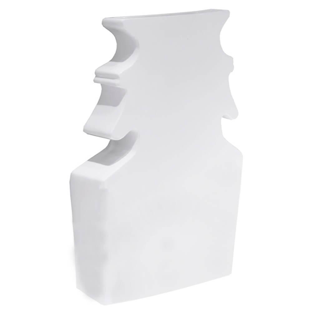 Vaso Classical Shape Branco Brilhante em Resina - Urban - 54x37 cm