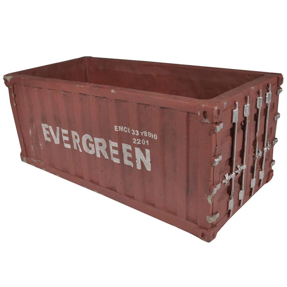 Vaso Container Vermelho em Cerâmica - Urban - 28,5x19 cm