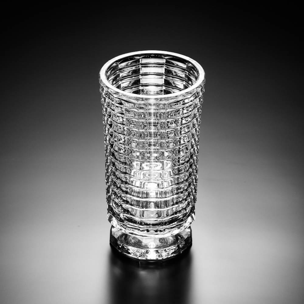 Vaso Polaron em Cristal - Wolff - 25 cm