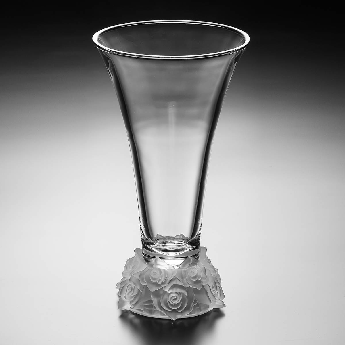 Vaso Rosê em Cristal - Bohemia Crystalite - 35,5 cm
