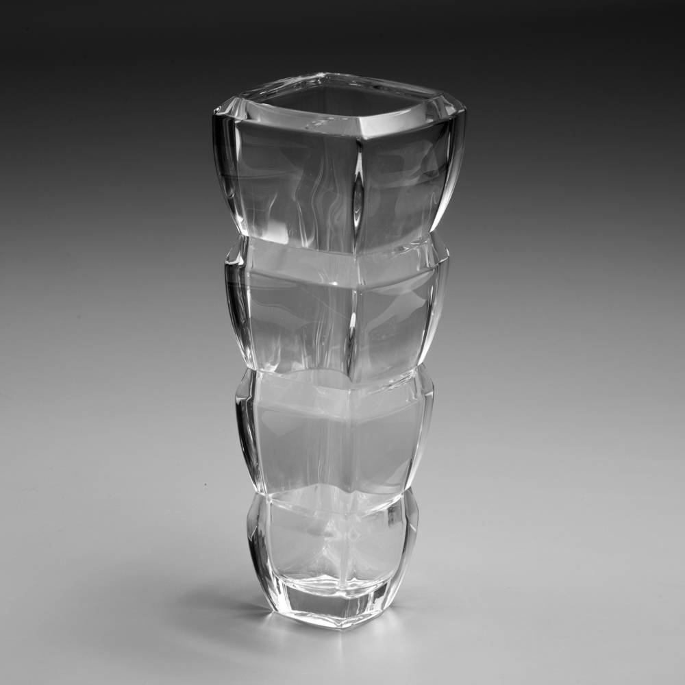 Vaso Segment em Cristal -  Bohemia - 34 cm