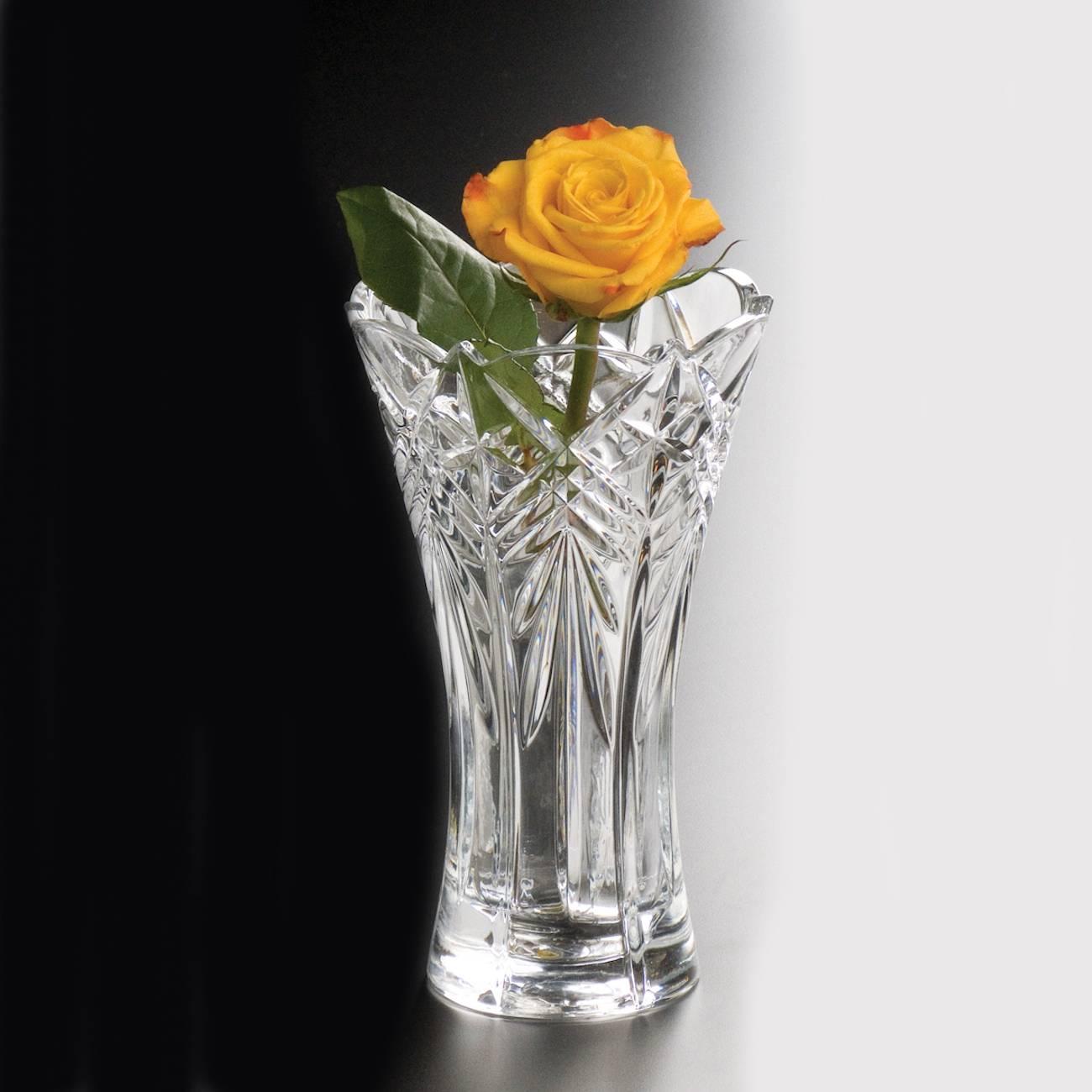 Vaso Taurus Acinturado em Cristal - Bohemia Crystalite - 25 cm