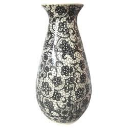 Vaso Dark Full Black Laces Fundo Claro em Cerâmica - Urban R$ 249,90 R$ 169,90 3x de R$ 56,63 sem juros