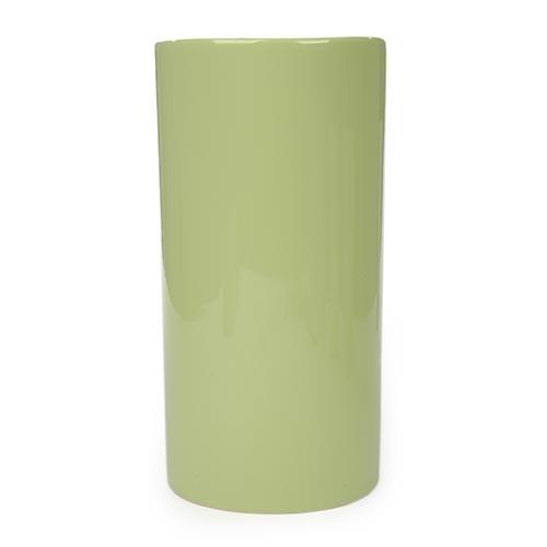 Vaso Decorativo Cilíndrico Verde em Cerâmica - 33x16 cm