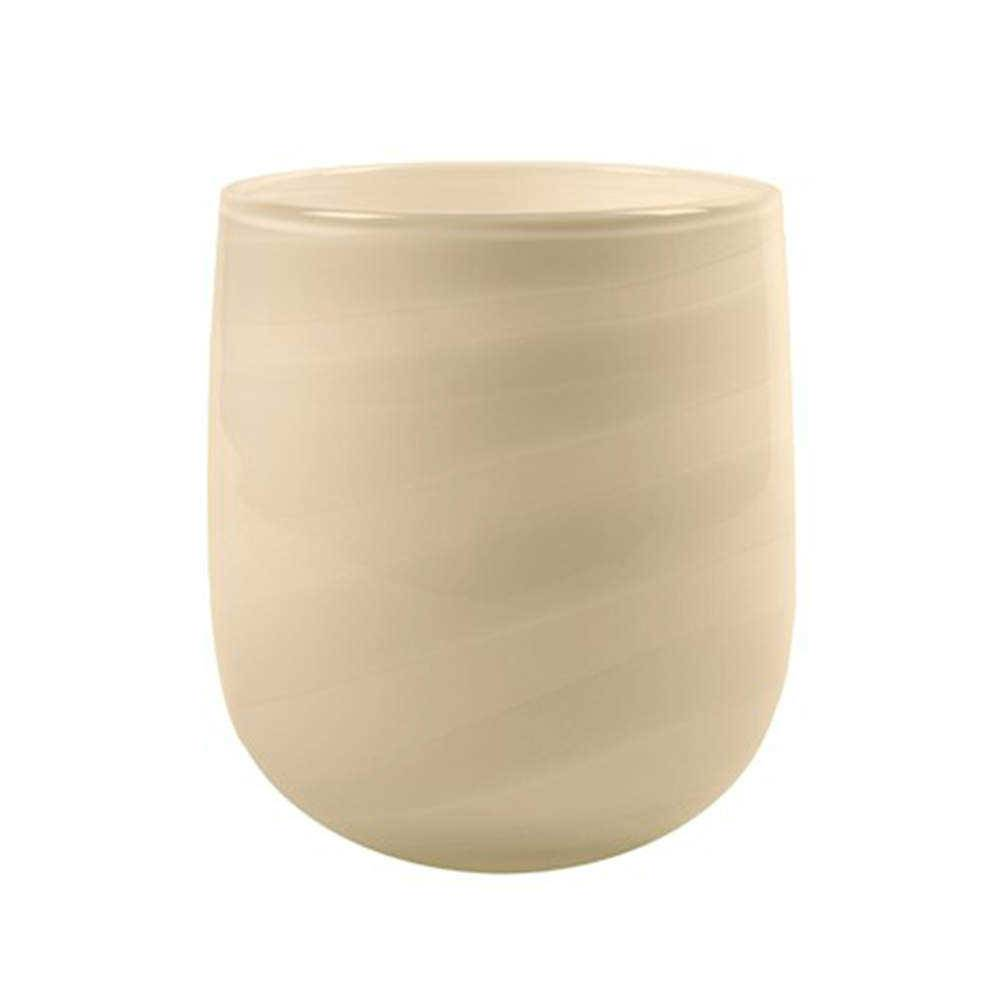 Vaso Decorativo Maggie Branco em Vidro - 19x14 cm