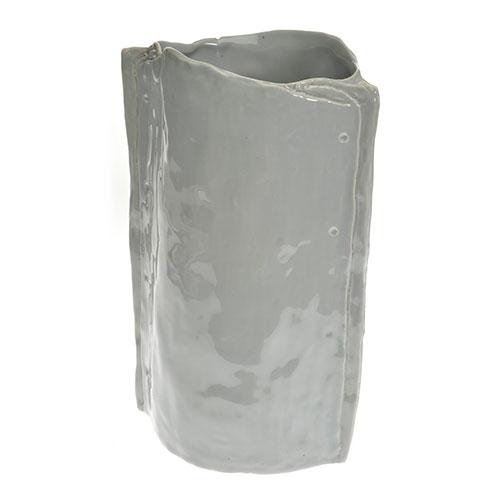 Vaso Decorativo Mof Cinza em Cerâmica - 28x19 cm