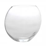 Vaso Decorativo Oval Transparente em Vidro - 16x7 cm