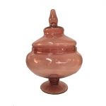 Vaso Decorativo Pantone Ambar em Vidro - 46x30 cm