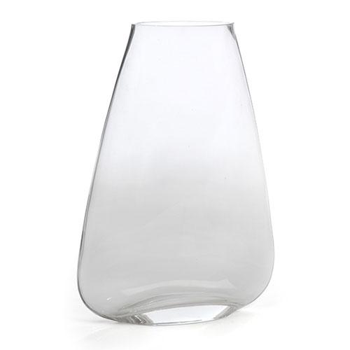 Vaso Decorativo Slim de Vidro Transparente - 30x21 cm