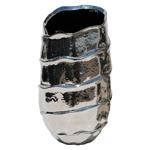 Vaso Decorativo Wave Prata em Cerâmica