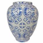Vaso Dedal Índigo Hidraulic Tile Azul em Cerâmica - Urban - 25x20 cm