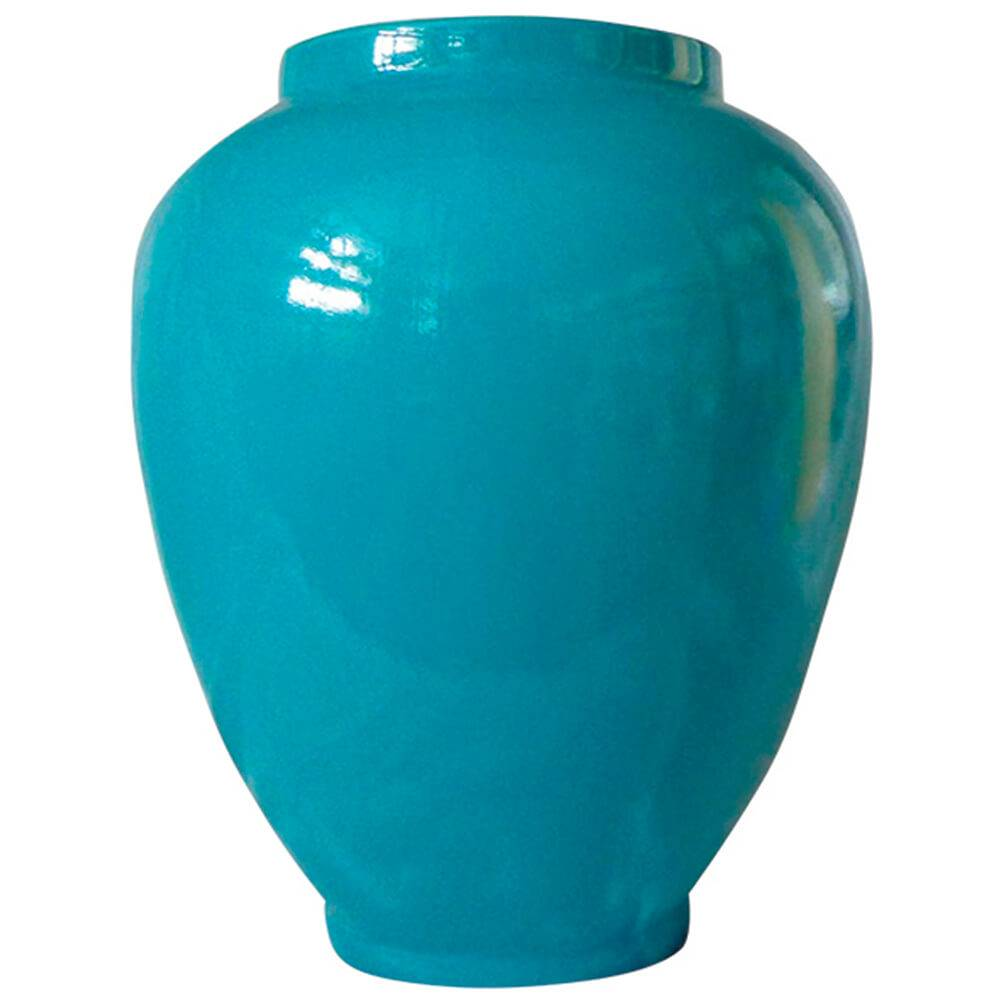 Vaso Dedal Le Jazz Solid Color Blue em Cerâmica - Urban - 25x20 cm