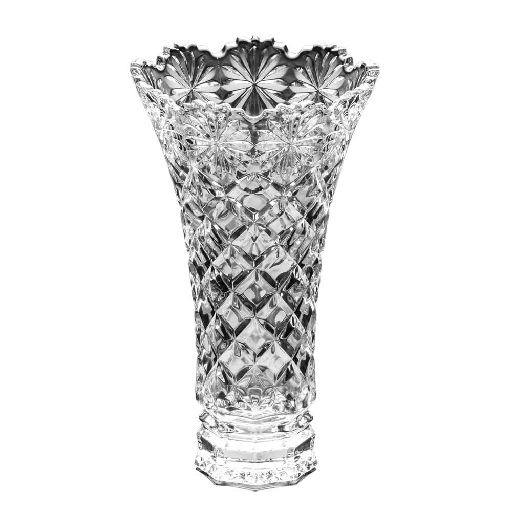 Vaso Diamond em Cristal - Lyor Classic - 20x14 cm