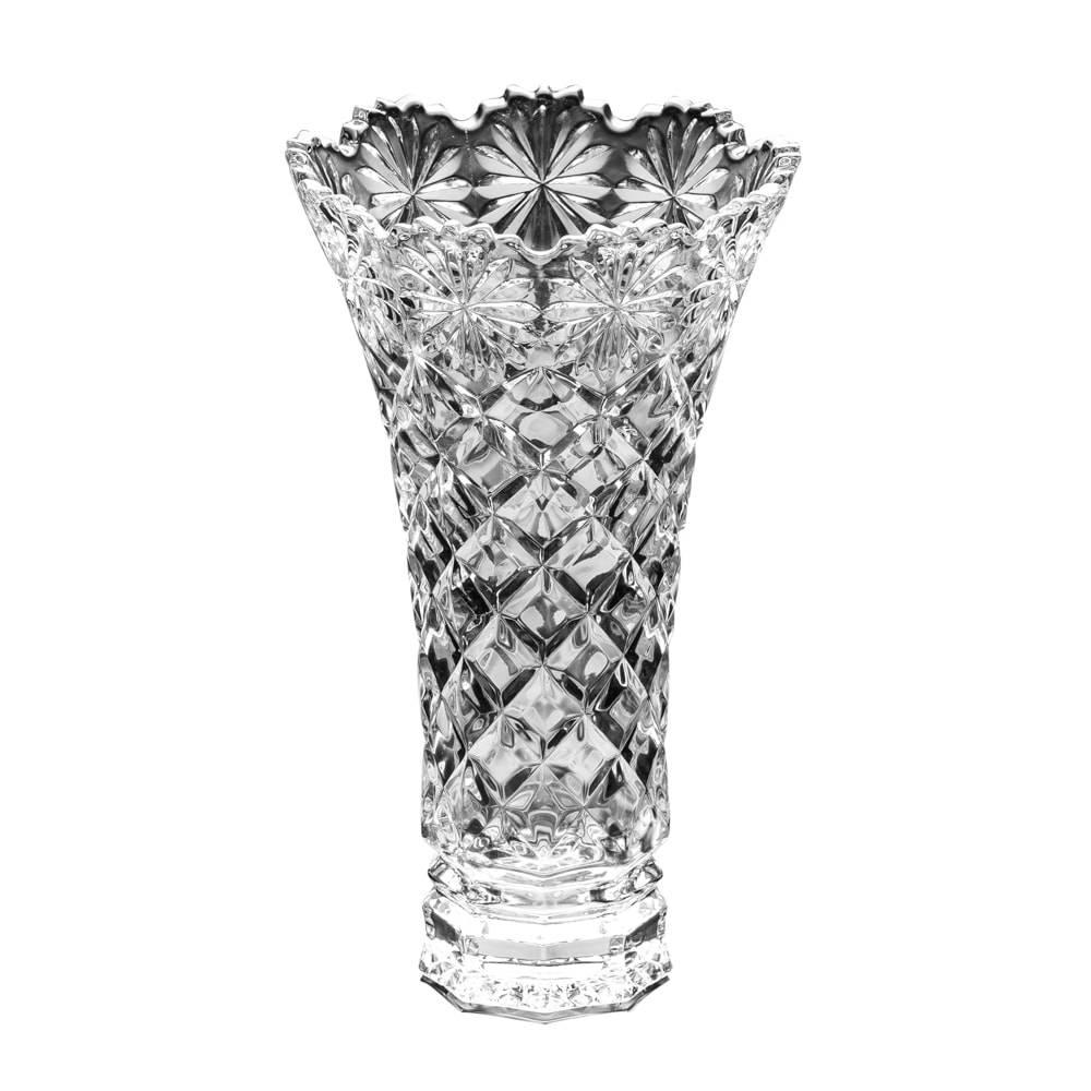 Vaso Diamond em Cristal - Lyor Classic - 25x17 cm
