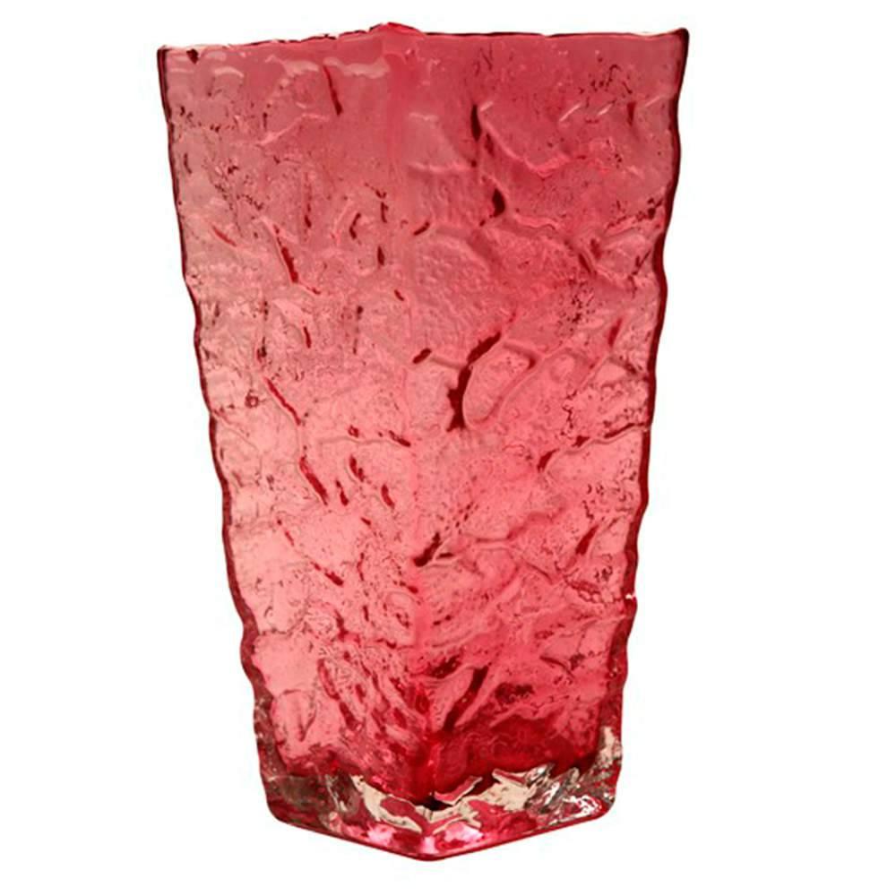 Vaso Dreem Rosa Médio em Vidro - 25x12 cm