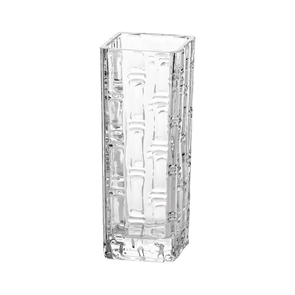 Vaso com Efeito Bambu em Vidro - Lyor Classic - 25x10 cm