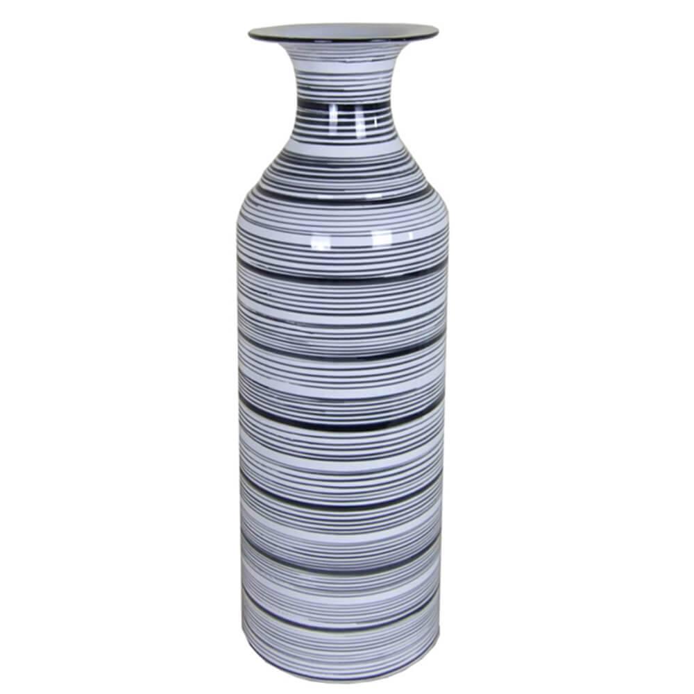 Vaso Egypt Bottle Cinza Pequeno em Cerâmica - Urban - 38,5x12 cm