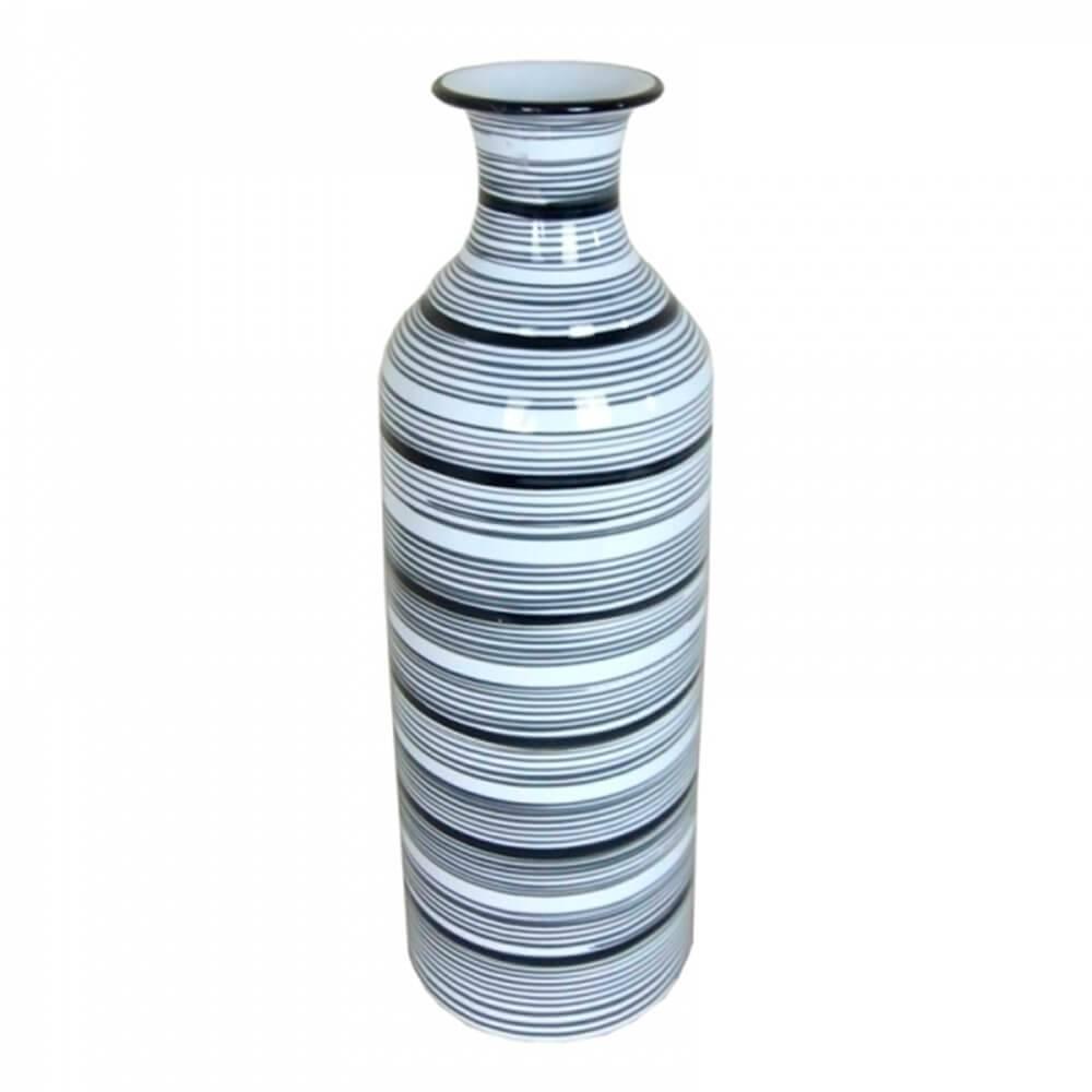 Vaso Egypt Bottle Grande Cinza em Cerâmica - Urban - 47,5x16 cm