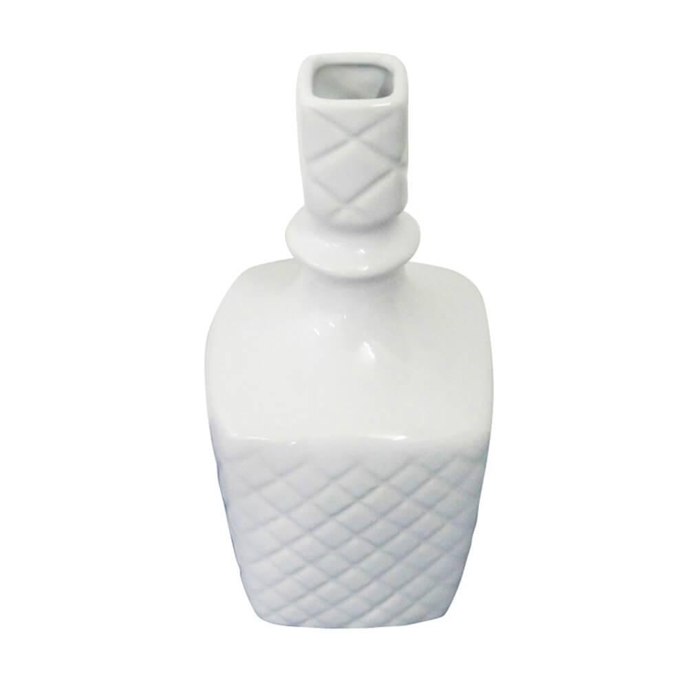 Vaso Express Lines Branco em Cerâmica - Urban - 25,5x12 cm